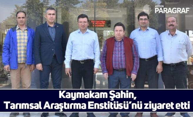 Kaymakam Şahin, Tarımsal Araştırma Enstitüsü'nü ziyaret etti