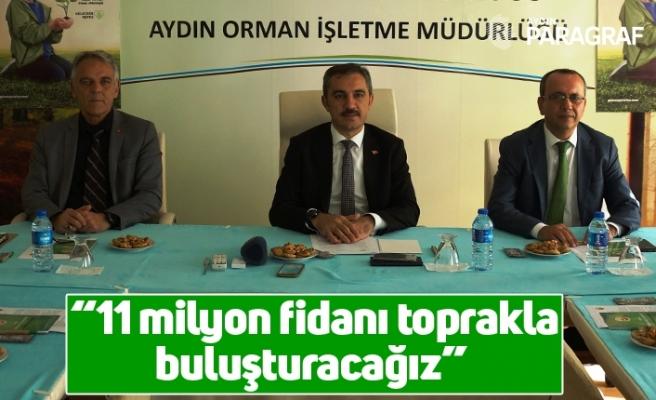 """Muğla Orman Bölge Müdürü Yaprak; """"11 milyon fidanı toprakla buluşturacağız"""""""