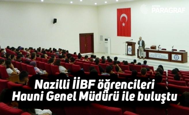 Nazilli İİBF öğrencileri Hauni Genel Müdürü ile buluştu
