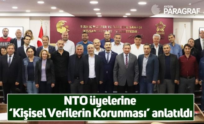 NTO üyelerine 'Kişisel Verilerin Korunması' anlatıldı