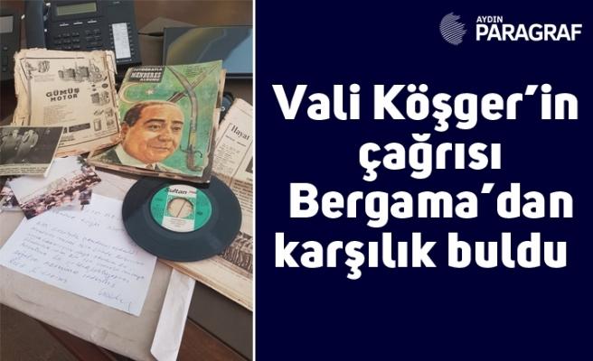 Vali Köşger'in çağrısı Bergama'dan karşılık buldu
