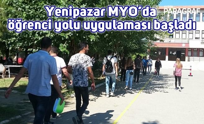 Yenipazar MYO'da öğrenci yolu uygulaması başladı