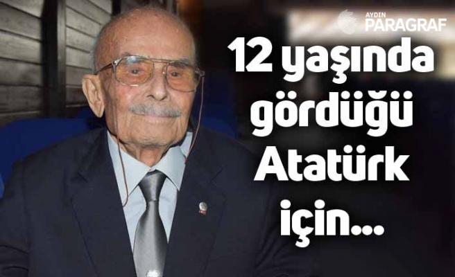 12 yaşında gördüğü Atatürk için 94 yaşında törenlere koştu