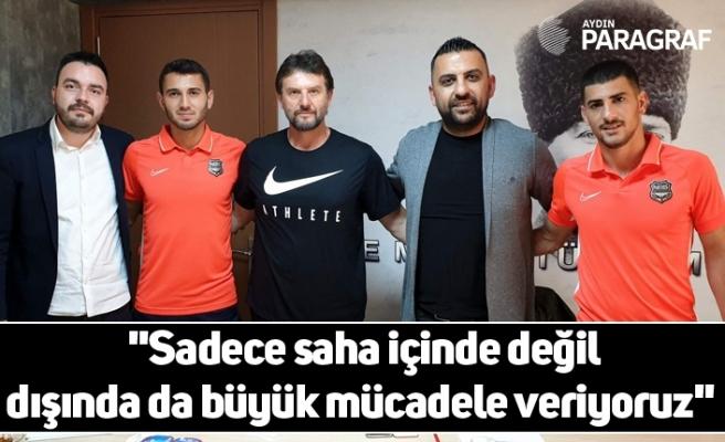 """Abbasoğlu; """"Sadece saha içinde değil dışında da büyük mücadele veriyoruz"""""""