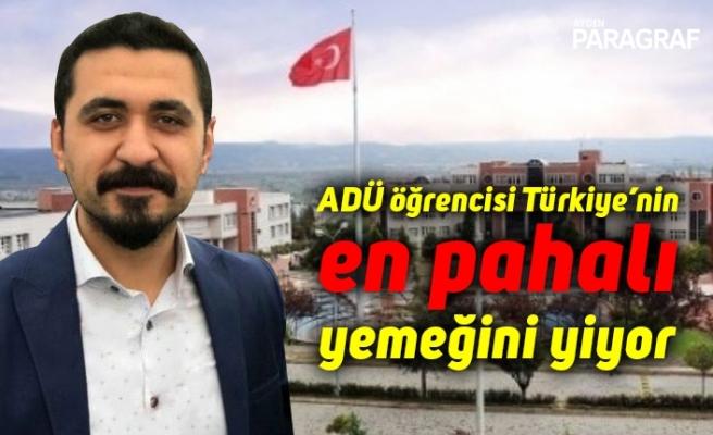 ADÜ öğrencisi Türkiye'nin en pahalı yemeğini yiyor