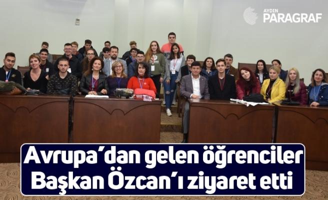 Avrupa'dan gelen öğrenciler Başkan Özcan'ı ziyaret etti