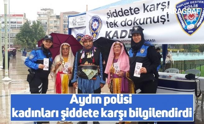 Aydın polisi kadınları şiddete karşı bilgilendirdi