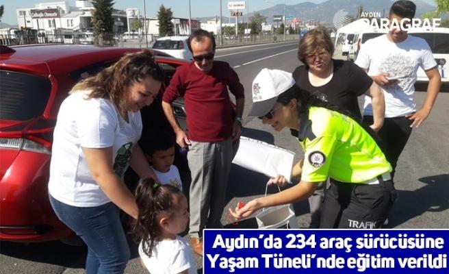 Aydın'da 234 araç sürücüsüne Yaşam Tüneli'nde eğitim verildi