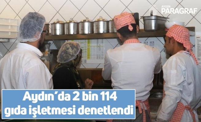 Aydın'da 2 bin 114 gıda işletmesi denetlendi