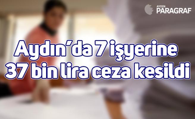 Aydın'da 7 işyerine 37 bin lira ceza kesildi