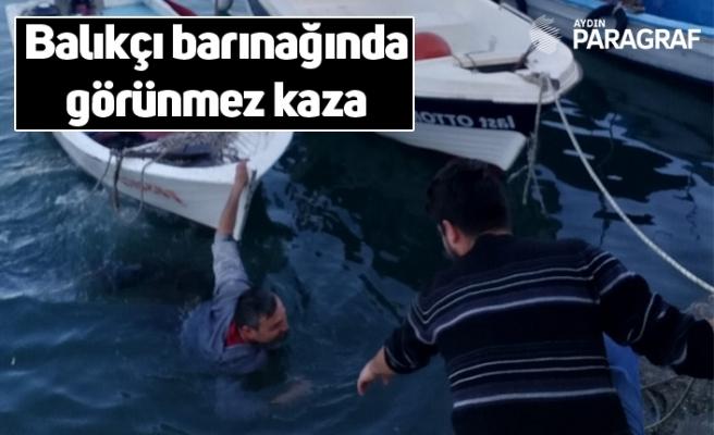Balıkçı barınağında görünmez kaza