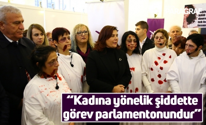 """Başkan Çerçioğlu'ndan kadın milletvekillerine çağrı; """"Kadına yönelik şiddette görev parlamentonundur"""""""