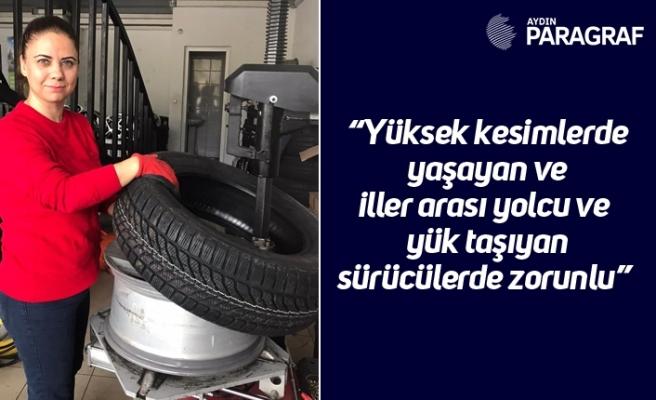 """Başkan Özmeriç'ten 'kış lastiği' uyarısı """"Yüksek kesimlerde yaşayan ve iller arası yolcu ve yük taşıyan sürücülerde zorunlu"""""""
