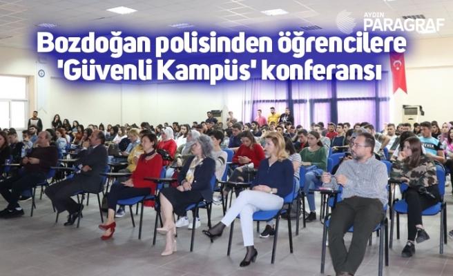 Bozdoğan polisinden öğrencilere 'Güvenli Kampüs' konferansı