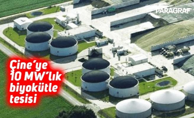Çine'ye 10 MW'lık biyokütle tesisi