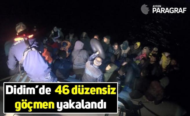 Didim'de  46 düzensiz göçmen yakalandı