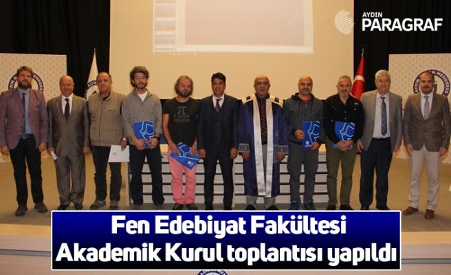 Fen Edebiyat Fakültesi Akademik Kurul toplantısı yapıldı