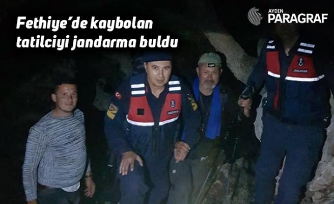 Fethiye'de kaybolan tatilciyi jandarma buldu