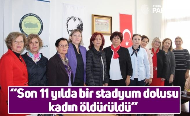 """Habibe Gürer; """"Son 11 yılda bir stadyum dolusu kadın öldürüldü"""""""