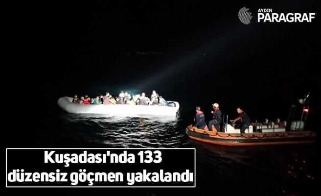 Kuşadası'nda 133 düzensiz göçmen yakalandı