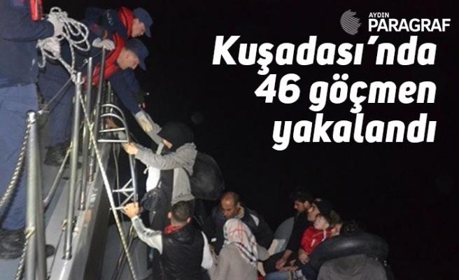 Kuşadası'nda 46 göçmen yakalandı