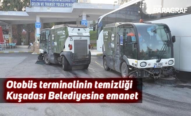Otobüs terminalinin temizliği Kuşadası Belediyesine emanet