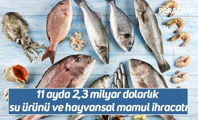 11 ayda 2,3 milyar dolarlık su ürünü ve hayvansal mamul ihracatı