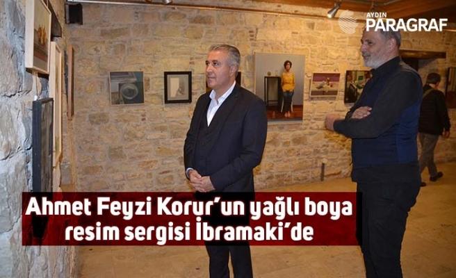 Ahmet Feyzi Korur'un yağlı boya resim sergisi İbramaki'de