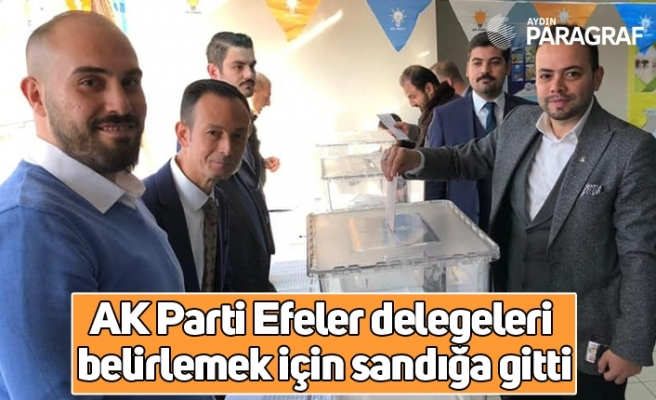 AK Parti Efeler delegeleri belirlemek için sandığa gitti