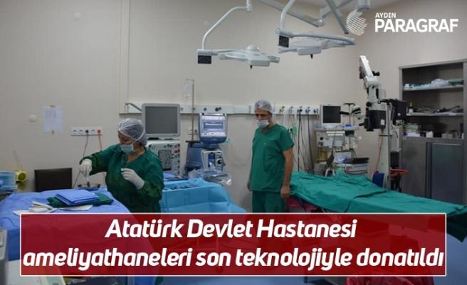Atatürk Devlet Hastanesi ameliyathaneleri son teknolojiyle donatıldı