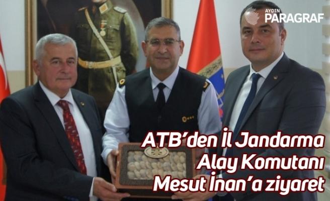 ATB'den İl Jandarma Alay Komutanı Mesut İnan'a ziyaret