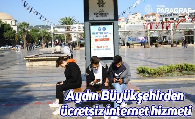 Aydın Büyükşehirden ücretsiz internet hizmeti