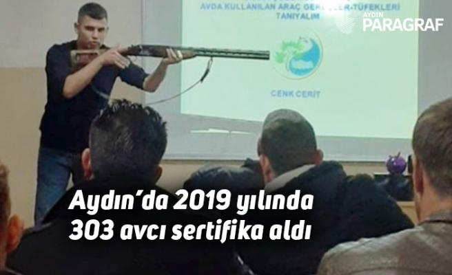 Aydın'da 2019 yılında 303 avcı sertifika aldı