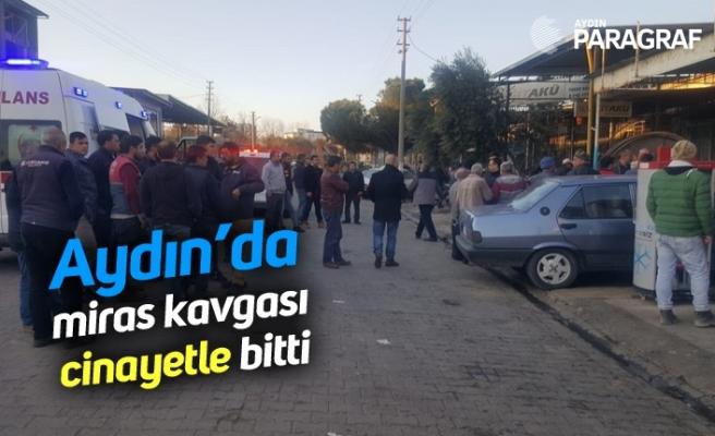 Aydın'da miras kavgası cinayetle bitti