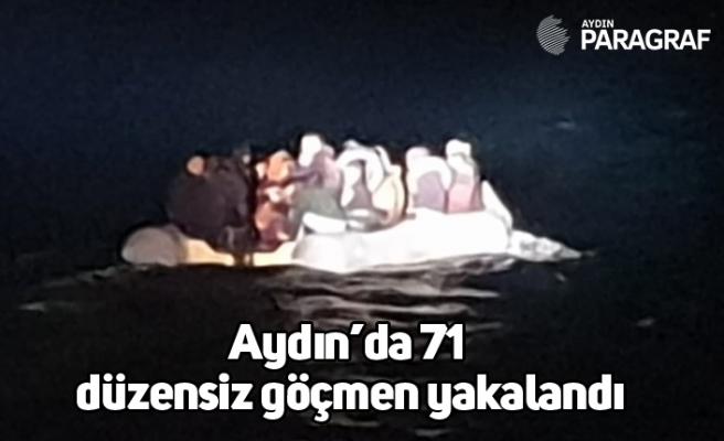 Aydın'da 71 düzensiz göçmen yakalandı