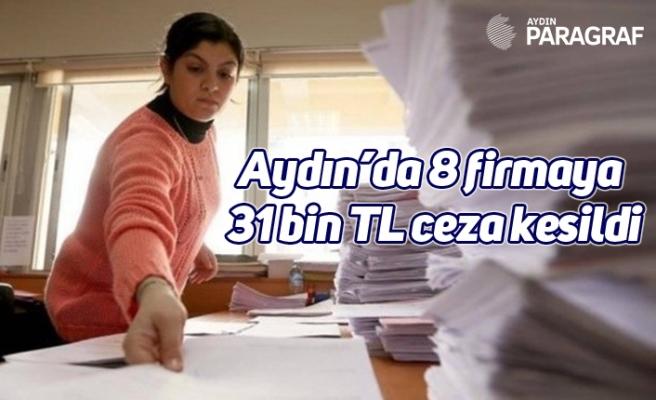 Aydın'da 8 firmaya 31 bin TL ceza kesildi