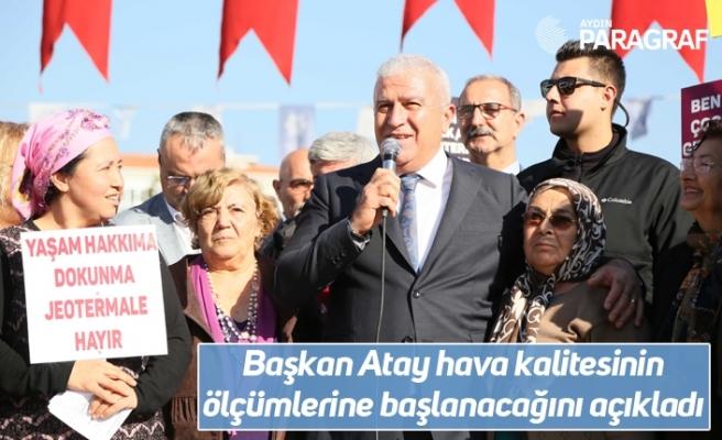 Başkan Atay hava kalitesinin ölçümlerine başlanacağını açıkladı