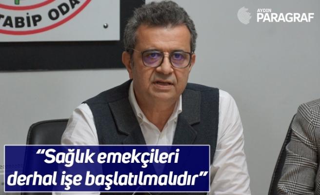"""Başkan Karagöz """"Sağlık emekçileri derhal işe başlatılmalıdır"""""""
