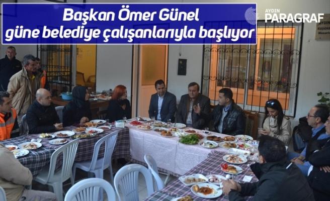 Başkan Ömer Günel güne belediye çalışanlarıyla başlıyor