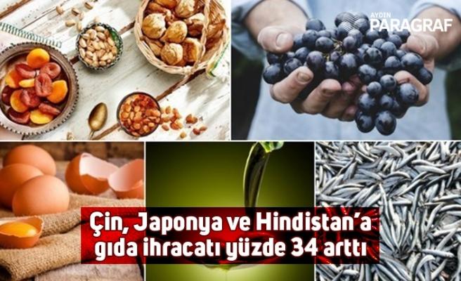 Çin, Japonya ve Hindistan'a gıda ihracatı yüzde 34 arttı