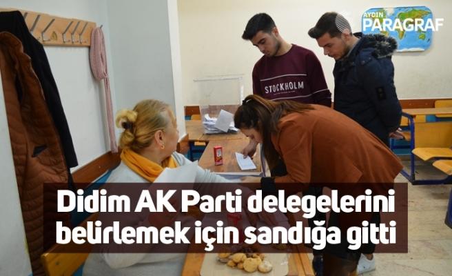Didim AK Parti delegelerini belirlemek için sandığa gitti
