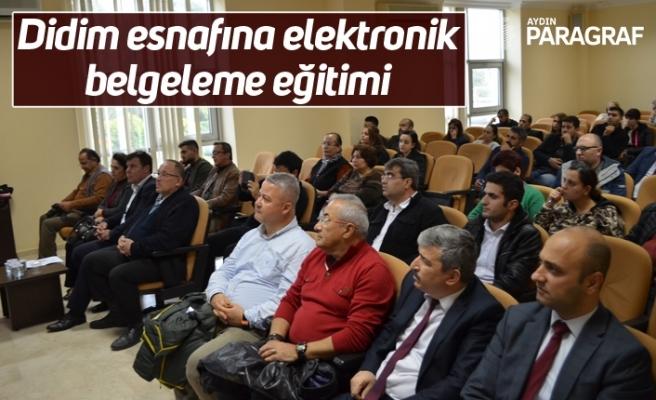 Didim esnafına elektronik belgeleme eğitimi