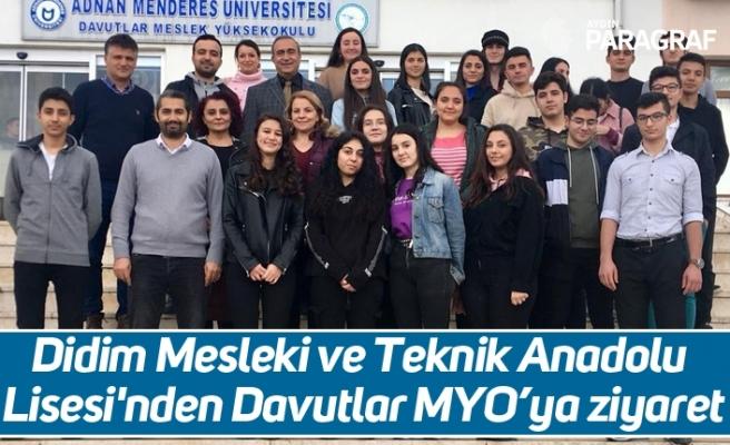 Didim Mesleki ve Teknik Anadolu Lisesi'nden Davutlar MYO'ya ziyaret