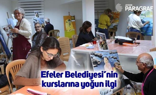 Efeler Belediyesi'nin kurslarına yoğun ilgi