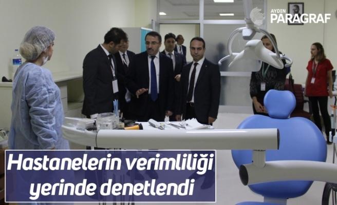 Hastanelerin verimliliği yerinde denetlendi