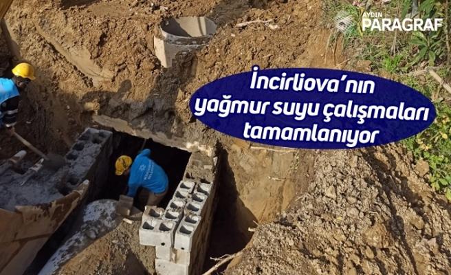 İncirliova'nın yağmur suyu çalışmaları tamamlanıyor