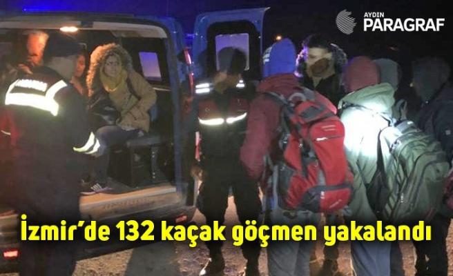 İzmir'de 132 kaçak göçmen yakalandı