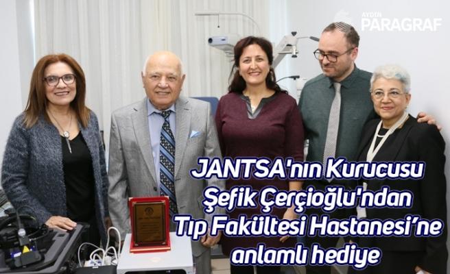 JANTSA'nın Kurucusu Şefik Çerçioğlu'ndan Tıp Fakültesi Hastanesi'ne anlamlı hediye