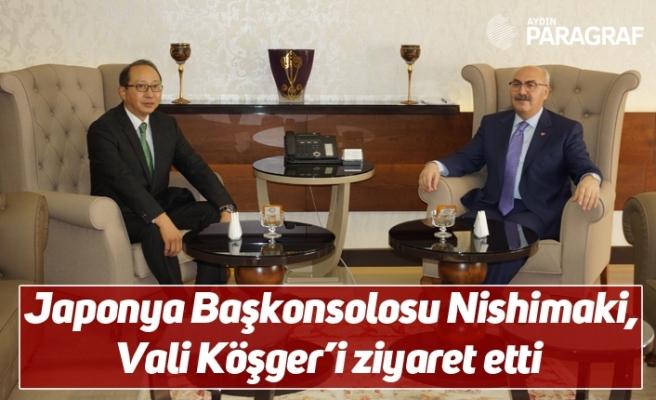 Japonya Başkonsolosu Nishimaki, Vali Köşger'i ziyaret etti