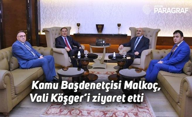 Kamu Başdenetçisi Malkoç, Vali Köşger'i ziyaret etti